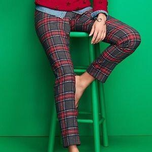 TALBOTS Plaid Wool Blend Pants